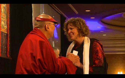 Laura Peterson & the Dalai Lama